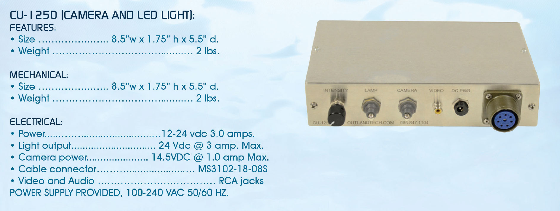 lights & cameras power supply